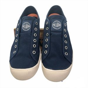 PALLADIUM Men's Flex Slip On Navy Sneakers -Size 9